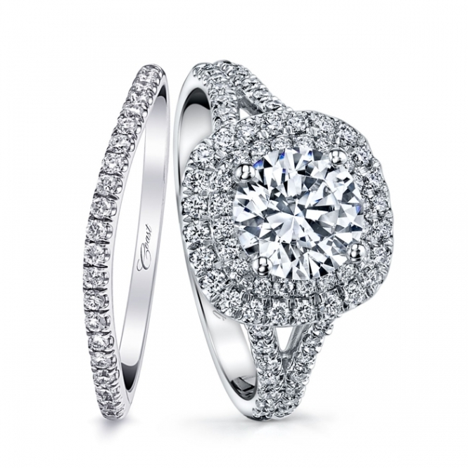 Occasions Fine Jewelry: Coast Diamond Halo Ring and Diamond Band (LC10021)