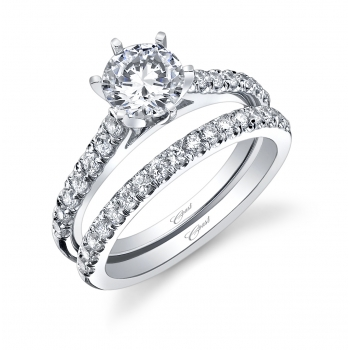 Coast-Diamond featured retailer Droste's Jewelry Shoppes Evansville IN classic wedding set LC5270_WC5270