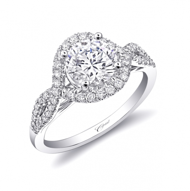 Bongiorno Jewelers: Coast Diamond Halo Twist Ring (LC5449)