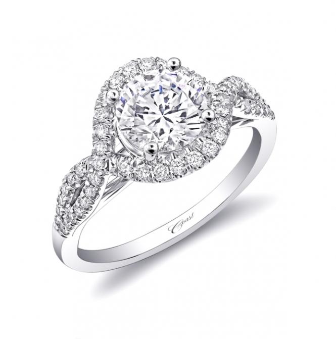 Bongiorno Jewelers: Coast Diamond Halo Twist Ring (LC5449)