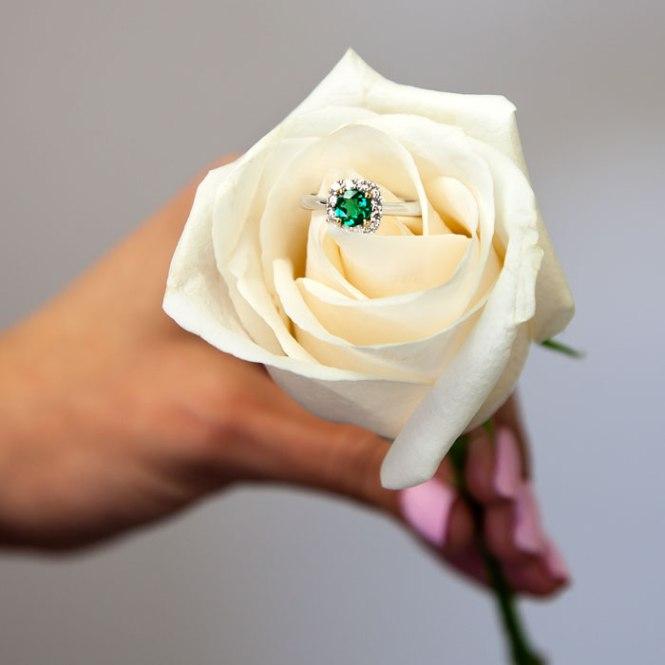 Coast Diamond 5 Rings of Summer: Week 1 - Emerald Halo Engagement Ring