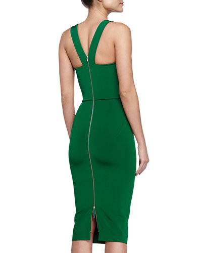 Green-V-Back-Victoria-Beckham-Dress-5-Rings-of-Summer-Coast-Diamond