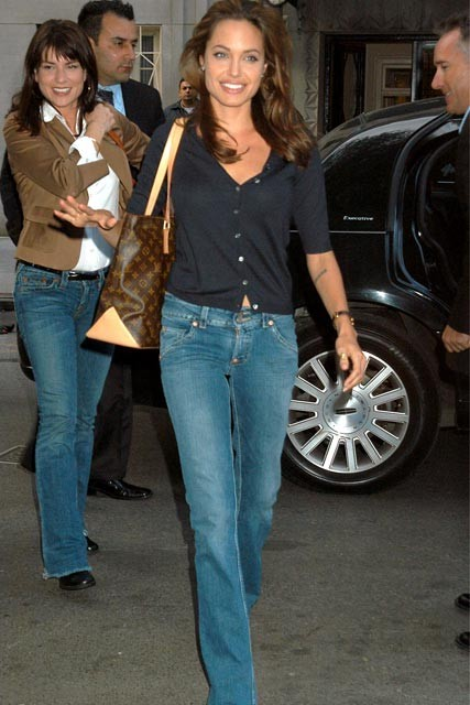 Angelina Jolie in Indigo Blue Jeans (Love, Coast: 5 Rings of Summer Blog Post-Indicolite Blue Engagement Ring