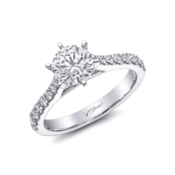 LC5272 Coast Diamond 1CT engagement ring with diamond shoulders