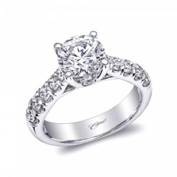 Coast Diamond 1.5 CT engagement ring LZ5007 graduated diamond shank