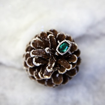 Coast Diamond one-of-a-kind design that features a rich green tourmaline center stone.