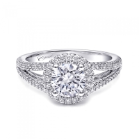 Coast Diamond Split Shank Halo Engagement Ring LC10131