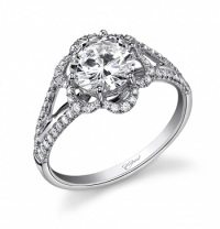 Coast Diamond Flower in Bloom Engagement Ring LC5225
