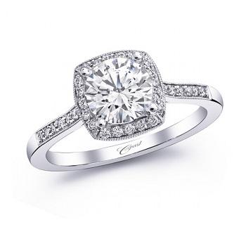 coast-diamond-cushion-shaped-halo-engagement-ring-LC5391-pave-diamonds-milgrain-edging
