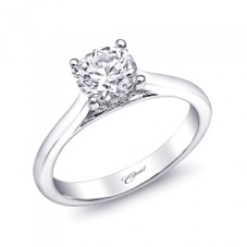 Coast Diamond 1CT Solitaire Engagement Ring LC5229 pave diamond gallery
