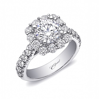 Coast Diamond glamorous halo engagement ring LZ5015