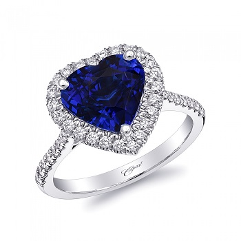Coast Blue heart shaped blue sapphire white gold LS10141-S