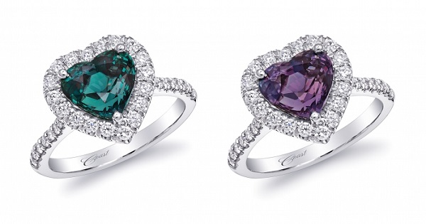 Coast Diamond heart shaped alexandrite ring platinum LSK10038-ALX