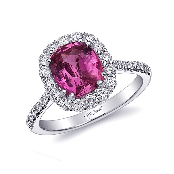 Coast Diamond 2.67 CT pink sapphire halo engagement ring LS10153-PS