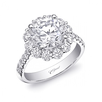 Coast Diamond 2CT round halo engagement ring LZ0245A