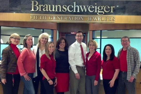Braunschweiger Staff on Go Red for Women Friday