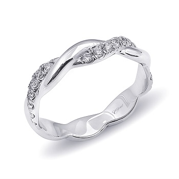 Blumenthal Jewelers: Coast Diamond intertwining high polished and diamond eternity band (WC10180).