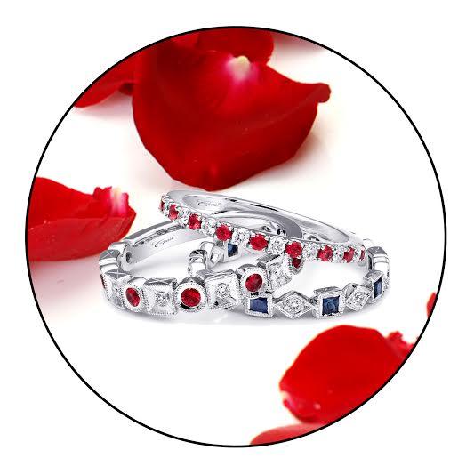 Coast Diamond Stackable wedding bands_ fashion rings sapphire ruby