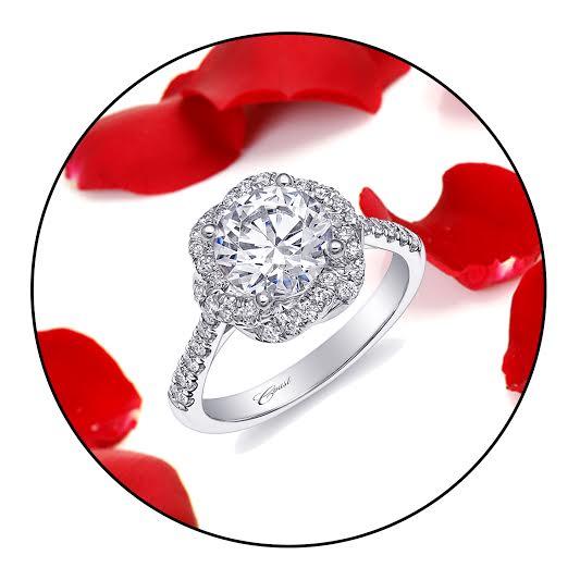 Coast Diamond 2 CT twisting halo engagement ring LC10341