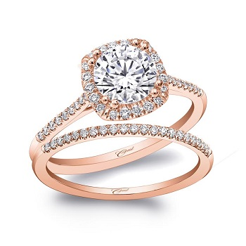 Coast Diamond award winning rose gold halo wedding set LC5410-RG_WC5410-RG