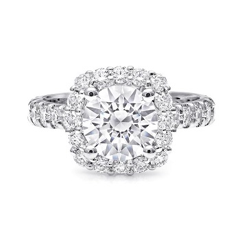 Coast Diamond 1.5 CT engagement ring LZ5016 round diamond halo and shoulders