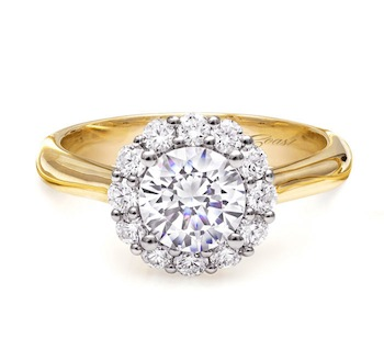Coast Diamond halo engagement ring LC5205 yellow gold