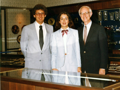 Van Cott Jewelers Bill, Birdie and Herbert Levine