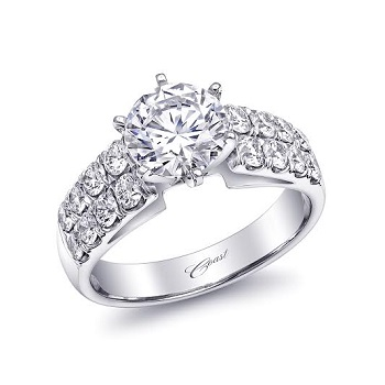 Coast Diamond 1.5 CT engagement ring LC5292 2 row diamond band
