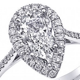 Coast Diamond award winning pear shaped diamond LC5410-PRS
