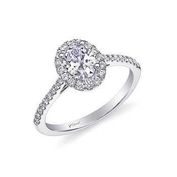 Coast Diamond 1CT oval halo engagement ring (LC10233) Charisma Collection