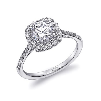Coast Diamond tailored halo engagement ring LC10213