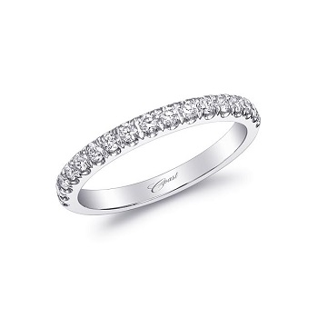 Coast Diamond wedding band WC5180 of fishtail set round brilliant diamonds