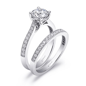 solitaire-coast-diamond-wedding-set-lc5358-wc5358-pave-diamonds-milgrain-edging