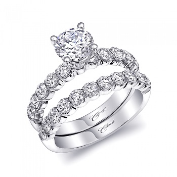 Coast Diamond 1CT engagement ring ls10006 scalloped band