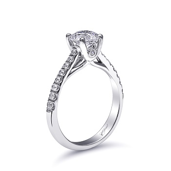 Coast Diamond classic solitaire engagement ring LC5219 peek a boo side diamond
