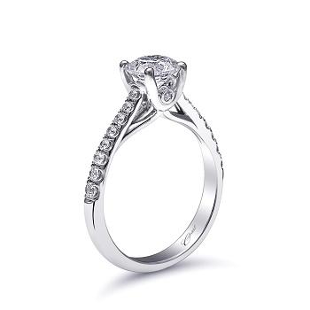 Coast Diamond classic solitaire engagement ring LC5219 peek a boo side diamond