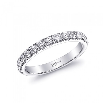 Coast Diamond fishtail micro-pave set wedding band (WC5181H-PT) in platinum 0.5CT