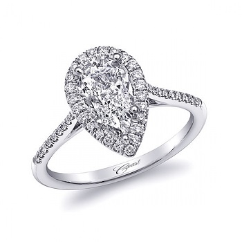 Coast Diamond pear shaped diamond halo engagement ring lc5410-prs