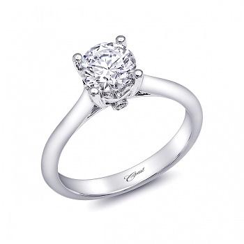 Coast Diamond solitaire engagment ring LC5237 peek a boo diamond gallery
