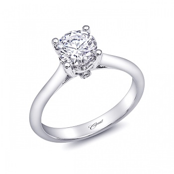 Coast Diamond solitaire engagment ring LC5237 peek a boo diamond gallery