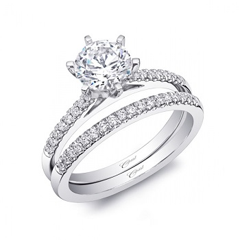 Coast Diamond 6 prong solitaire engagement ring LC5386 band WC5386 prong set diamonds