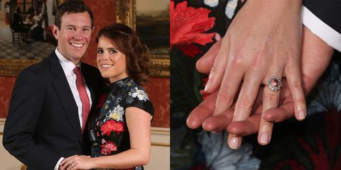 Princess Eugenie's engagement ring padparadscha