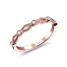 Coast Diamond rose gold band WC20055H-RG chevron pave milgrain