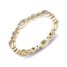 Coast Diamond band WC10183-YG yellow gold round marquise shapes