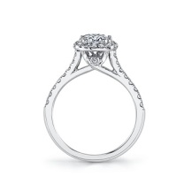Coast Diamond cushion shaped halo engagement ring lc5256 surprise diamond cathedral setting