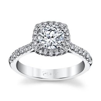 coast diamond cushion shaped halo engagement ring lc5256 with side stone
