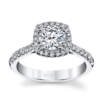 coast diamond cushion shaped halo engagement ring lc5256 with side stone