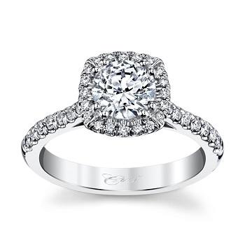 coast diamond cushion shaped halo engagement ring lc5256