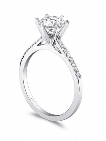 Coast Diamond 6 prong solitaire engagement ring LC5386 prong set diamonds