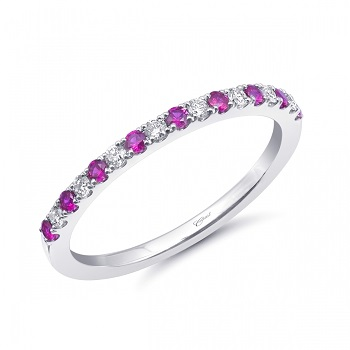 Coast Diamond ruby fashion band WC20020C-R